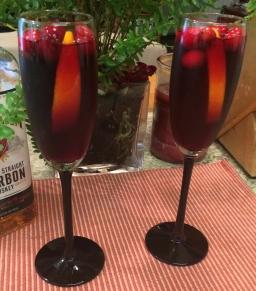 Cran-Bourbon Holiday Cocktail