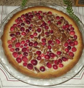 Low-Carb Creanberry Pecan Pie